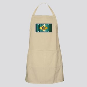 Delaware State License Plate Flag Apron
