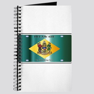 Delaware State License Plate Flag Journal