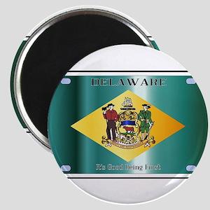 Delaware State License Plate Flag Magnets