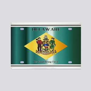 Delaware State License Plate Flag Magnets