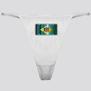 Delaware State License Plate Flag Classic Thong