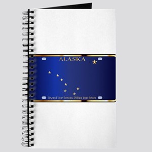 Alaska State License Plate Flag Journal