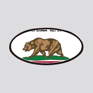 California License Plate Flag Patch