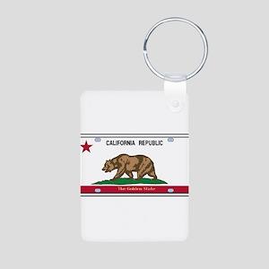 California License Plate Flag Keychains
