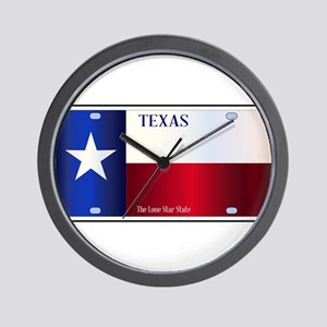 Texas State Flag License Plate Wall Clock