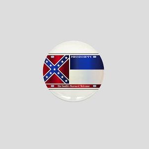 Mississippi License Plate Flag Mini Button