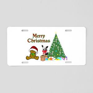 Chihuahua Christmas Aluminum License Plate