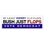 Bush Flops Bumper Sticker