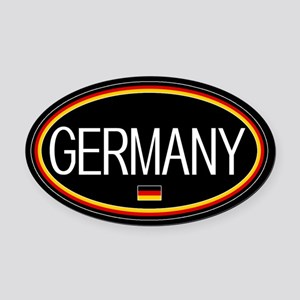 Germany: German Flag Oval (Black) Oval Car Magnet
