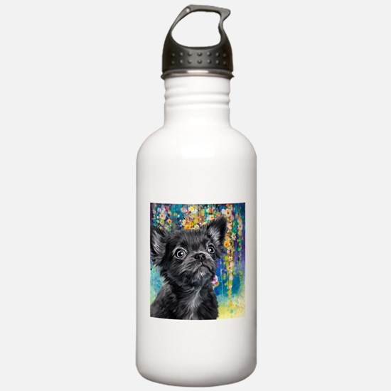 Chihuahua Painting Water Bottle