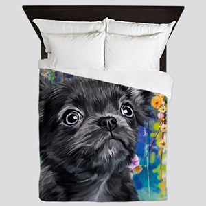 Chihuahua Painting Queen Duvet