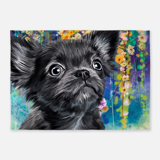 Chihuahua Painting 5'x7'Area Rug