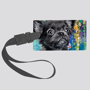 Chihuahua Painting Luggage Tag
