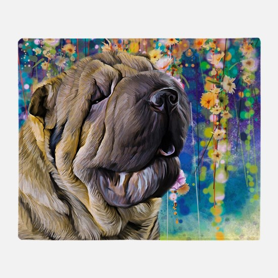 Shar Pei Painting Throw Blanket