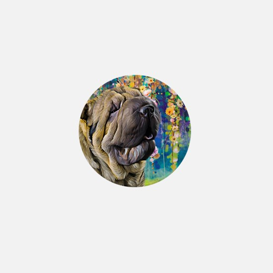 Shar Pei Painting Mini Button