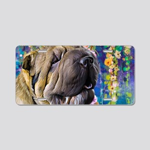Shar Pei Painting Aluminum License Plate