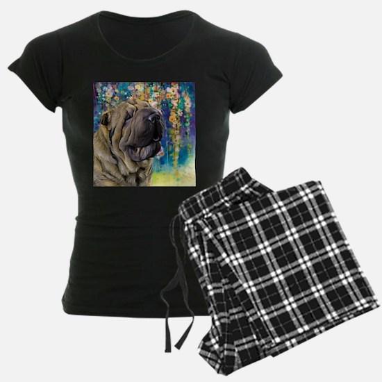 Shar Pei Painting Pajamas