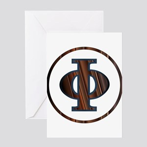 Phi Greek Letter Greeting Cards