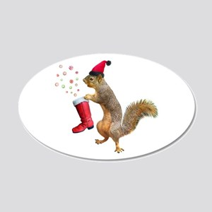 Squirrel Red Boot Wall Decal