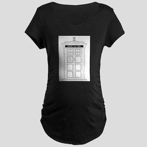 Old Fashioned British Police Box Maternity T-Shirt