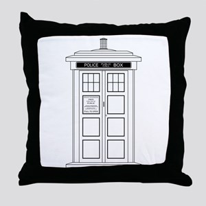 Old Fashioned British Police Box Throw Pillow