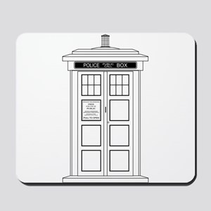 Old Fashioned British Police Box Mousepad
