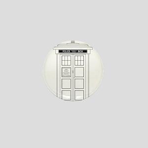 Old Fashioned British Police Box Mini Button
