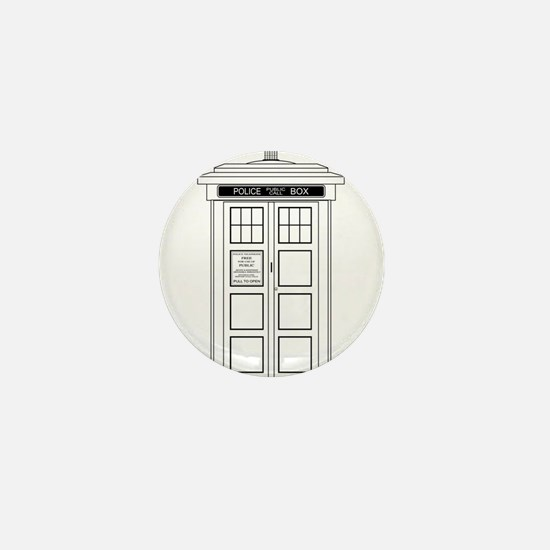 Old Fashioned British Police Box Mini Button