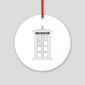 Old Fashioned British Police Box Round Ornament