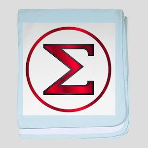 Sigma Greek Letter baby blanket