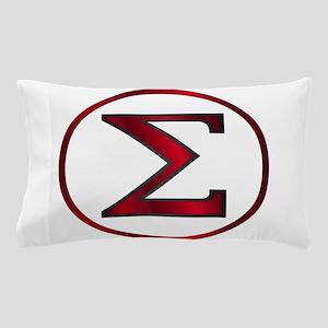 Sigma Greek Letter Pillow Case