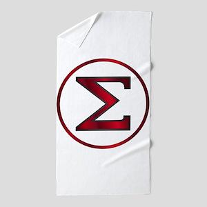 Sigma Greek Letter Beach Towel