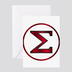 Sigma Greek Letter Greeting Cards