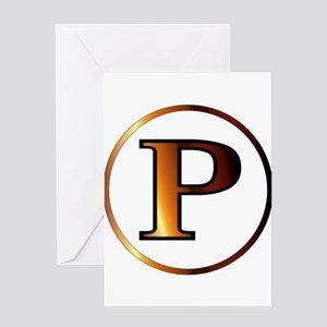 Rho Greek Letter Greeting Cards
