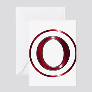 Omicron Greek Letter Greeting Cards