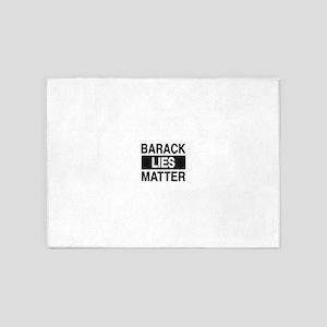 barackliesmatter logo 5'x7'Area Rug