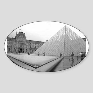 louvre Oval Sticker
