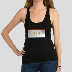 New Orleans City Flag Racerback Tank Top