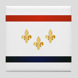 New Orleans City Flag Tile Coaster