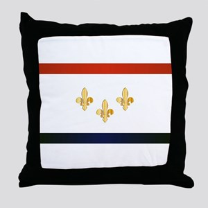 New Orleans City Flag Throw Pillow