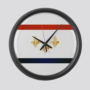 New Orleans City Flag Large Wall Clock