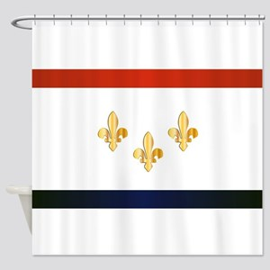 New Orleans City Flag Shower Curtain