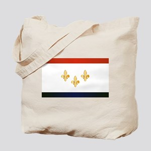 New Orleans City Flag Tote Bag