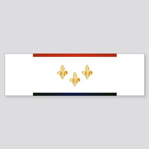 New Orleans City Flag Bumper Sticker