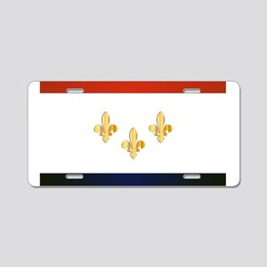 New Orleans City Flag Aluminum License Plate