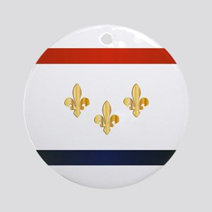 New Orleans City Flag Round Ornament