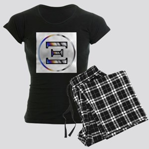 Xi Greek Letter Women's Dark Pajamas