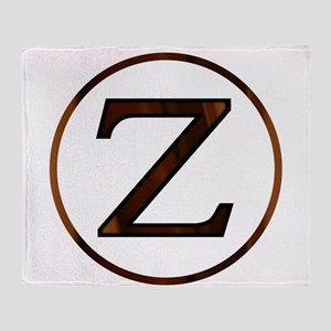 Zeta Greek Letter Throw Blanket