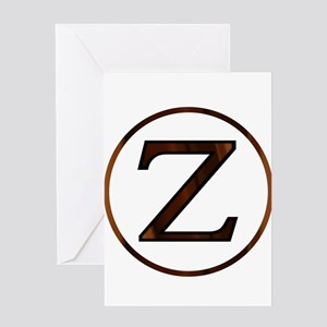 Zeta Greek Letter Greeting Cards