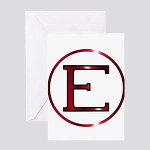 Epsilon Greek Letter Greeting Cards